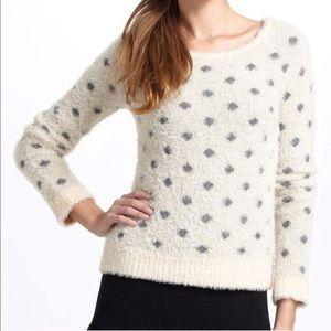 Anthropologie Moth Plush Polka Dot Sweater Medium